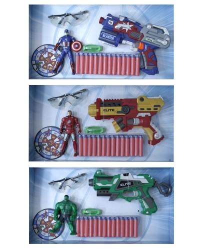 Оружие с поролон. снарядами  SB255-1/2/3/4 4 вида, в кор. 52*28*7 см