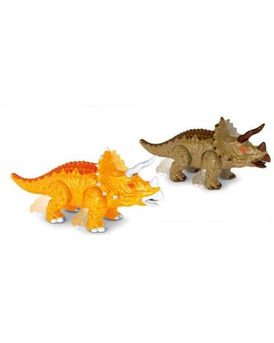 Животные 188-3 2 вида,батар,динозавр, звук, в коробке 21*8*10,5см