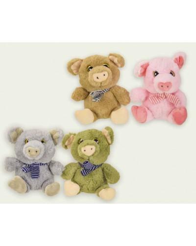 Мягкая игрушка CLR159 Свинки 15 см, 4 цвета, в пакете