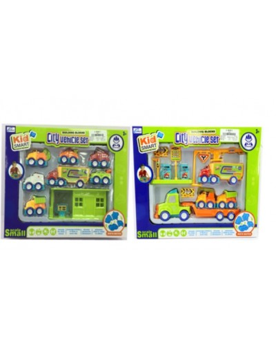 Игровой набор с машинками KM-901A/KM-902A 2 вида, в кор