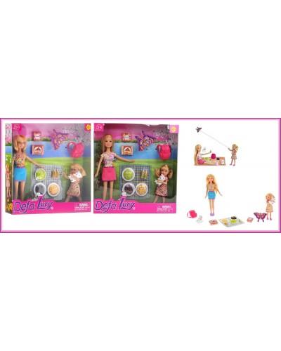 """Кукла """"Defa Lucy"""" 8282 2 вида,с куколкой,набором для пикника,в кор.25,5*25*5см"""