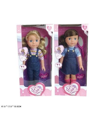 "Кукла ""Bella"" YL1980A  2 вида,расческа,заколка, в кор. 41*17*10см"