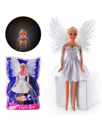 """Кукла """"Defa Lucy""""Ангел"""" 8219  свет крылья, в слюде 21*7*33 см"""