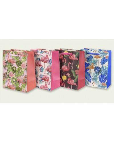 """Подарочный пакет 7503-6S """"Фламинго"""" р-р 18*23*10 см, 60уп по 12шт в пакете, цена за 1штуку"""