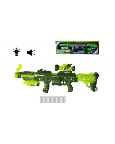 Бластер батар. FJ559 свет, звук, стреляет поролон. патронами, 20шт, в кор. 79*23,3*8,5см