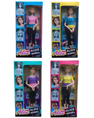 "Кукла типа ""Барби""Йога"" 103-1/2/3/4 4вида, шарнир., в спортивном костюме, в кор.13,5*6*32см"