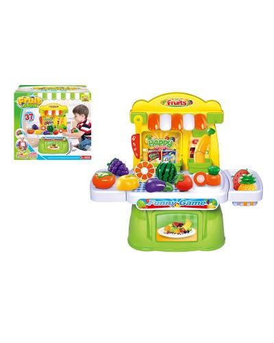 Овощи и фрукты 36778-101 продукты делятся пополам, нож, в кор. 24*38,5*46 см