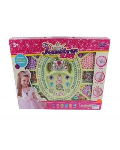 Бисер 3315 корона, кольца, бусинки, в коробке 46*5,5*35см