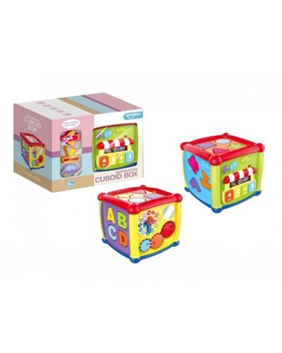 Муз.разв.игрушка HE0520 4 игровые панели, звук, мелодии, в коробке 26*17*21см