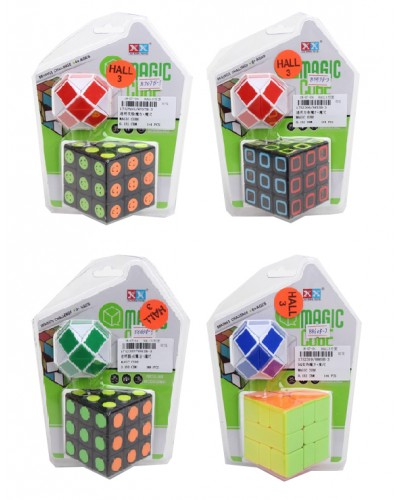 Кубик-логика 8707B-3/8853B-3/63B-3/60B-3 плюс лог-змейка, 3*3, на блист 18
