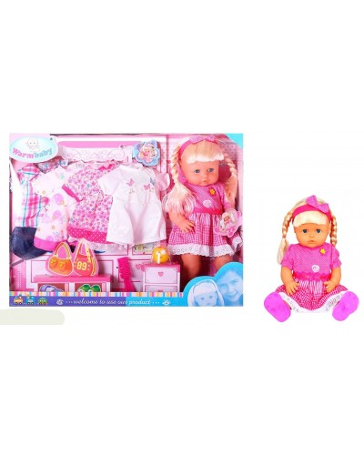 Кукла функц RT05056 с одеждой, расческой, в собран. кор. 56*41*14см