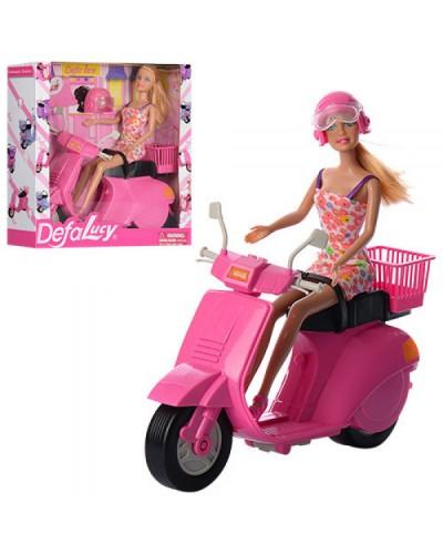 "Кукла ""Defa Lucy"" 8246 скутер, аксессуары, в кор, 28*28*8,5 см"