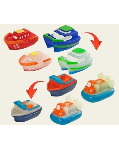 Пищалка 802 4 модели корабликов-меняют цвет от температуры, в пакете 11,5*15см