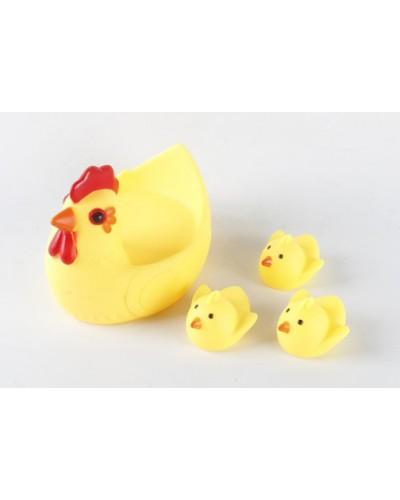 Пищалка 33059-7 курочка и цыплята, в пакете 13*10,5*10,5см