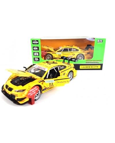 "Машина метал. 7854 ""АВТОПРОМ"" спорткар 1:32 BMW M3 DTM свет, звук, в коробке 18*9*9"