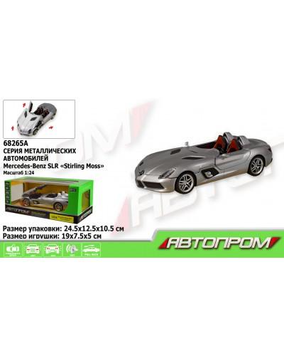 """Машина металл 68265A """"АВТОПРОМ"""", 1:24 Mercedes-Benz SLR McLaren Stirling Moss, откр.двери, в кор"""