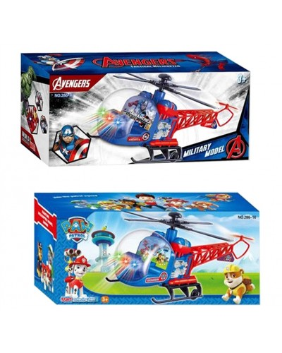 Вертолет батар. 286-15/16 два вида, в коробке 25*12*9см