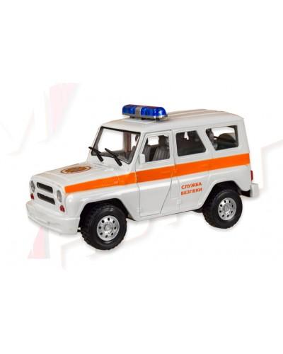 "Машина батар. 7659-6 ""АВТОПРОМ"" ""Служба безпеки"", свет, звук, откр. двери, в коробке 21,5*11,5"