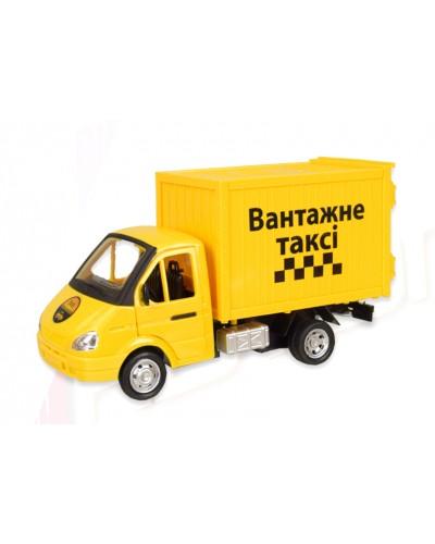 "Машина батар. 7660-2 ""АВТОПРОМ"" ""Вантажне таксi"", свет, звук, откр. двери, в коробке 23,5*11*1"