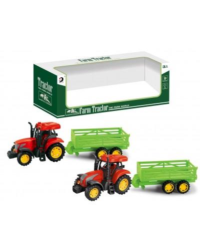 Трактор инерц 1601-5T 2 вида микс, в кор 36,5*9,8*12,5см