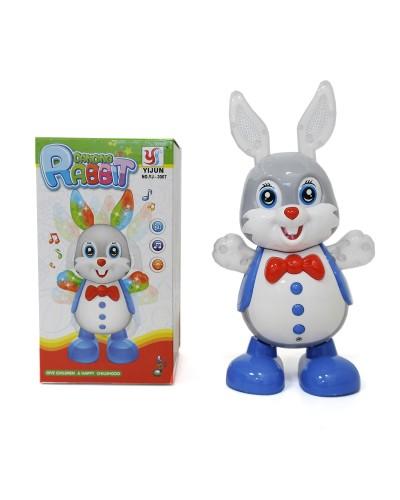 """Муз. животное. YJ-3007 """"Кролик"""", батар, звук, светв кор. 10*10*19см"""