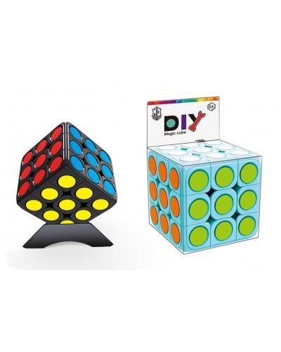 Кубик логика 379009-A 3*3 DIY 2 цвета, с подставкой, в коробке 5,6*5,6*5,6 см