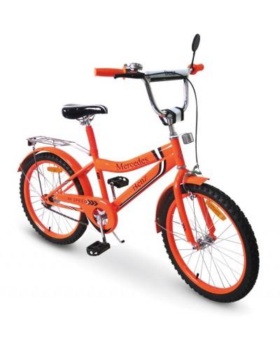 Велосипед 2-х колес 20'' 172037 со звонком, зеркалом, руч. тормоз, без доп. колес