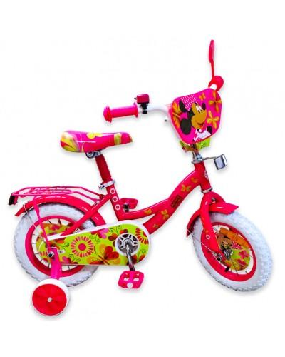 "Велосипед 2-х колес 12"" 191204 со звонком, зеркалом, без ручного тормоза"