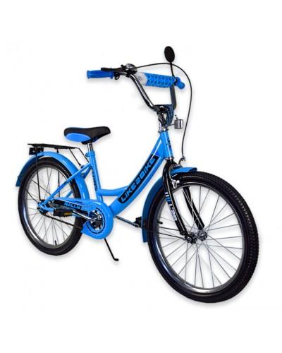 """Велосипед детский 2-х колёсный 20"""" 192013 Like2bike RALLY,  голубой, без тренировочных колёс"""
