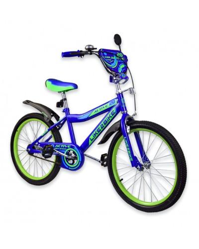 """Велосипед детский 2-х колёсный 20"""" 192025 Like2bike Active, синий,  без тренировочных колёс"""