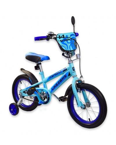 """Велосипед детский 2-х колёсный 18"""" 191834 Like2bike Sprint, голубой"""