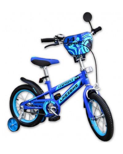 "Велосипед детский 2-х колёсный 18"" 191835 Like2bike Sprint, синий"