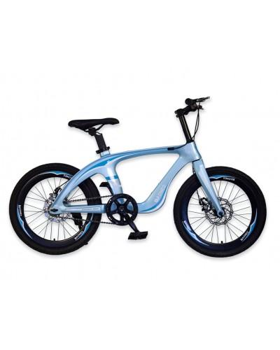 Велосипед 2-х колес 20'' M20413 ГОЛУБОЙ рама из магниевого сплава, подножка, руч.тормоз, без доп