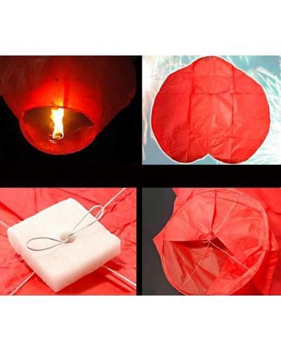 Небесный фонарик YW0114 микс цветов, в пакете по 10шт, цена за упаковку