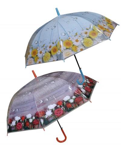 Зонт 336 4 вида, длина трости 82 см, диаметр 79 см