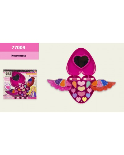 "Косметика ""Сердце"" 77009 тени, блески, кисточки, в кор. 28*5*25 см"