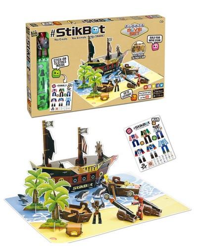 Набор для анимации 2110 Пиратский корабль, наклейки, в коробке 49*29*3см