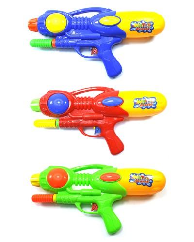 Водяной пистолет 529 с насосом, в пакете 35 см