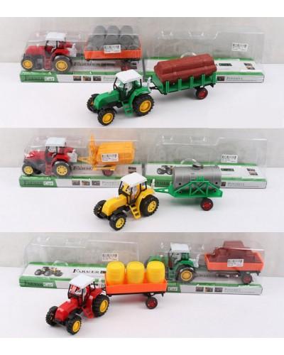 Трактор инерц. 986-111A/2A/0A/09A/8 микс видов, под слюдой 29*10*7см