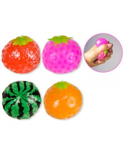 Антистресс AN1907 4 вида фрукты с  шариками орбиз, 12шт в боксе /цена за шт/