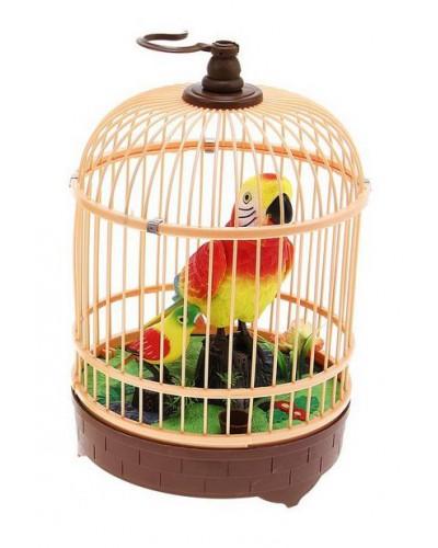 Муз. птичка HL518-1A  в клетке, свет, звук, в коробке
