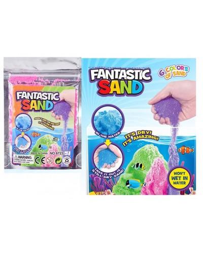 """Игра """" Живой песок""""  6723-1 5 цветов по 50 гр, мерцающий, в пакете"""