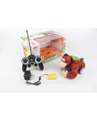 Животные на р/у 2136 батар, обезьяна, в короб. 33,5*21*18,5см