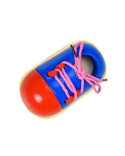 Деревян. шнуровка CLR319 ботинок, в пакете 10*14 см
