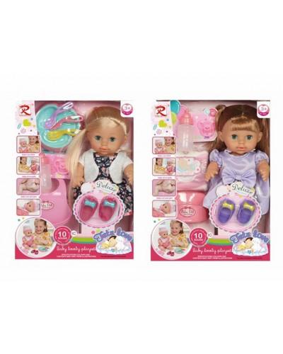 Кукла функц RL-8262/RL-8266  2 вида, пьет-пис, 10 звуков, горшок, подгузник, бутылка, аксес, в кор.