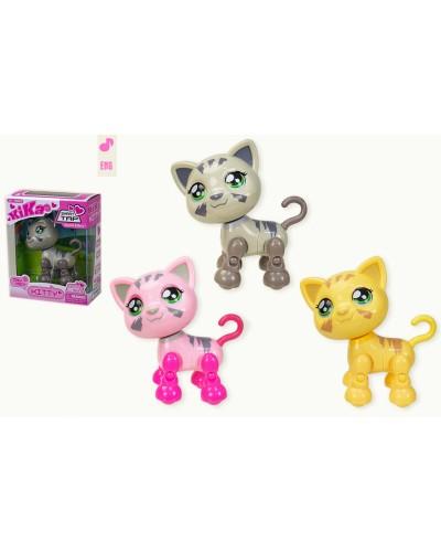 Муз. животное 1682 Кошка, 3 цвета, свет, звук, движ., в коробке 13*6,5*16см