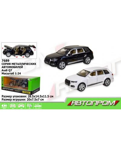 "Машина метал 7689 ""АВТОПРОМ"" 1:24 Audi Q7, батар, свет, звук, двери откр., в кор. 28,5*14,5*11,5см"