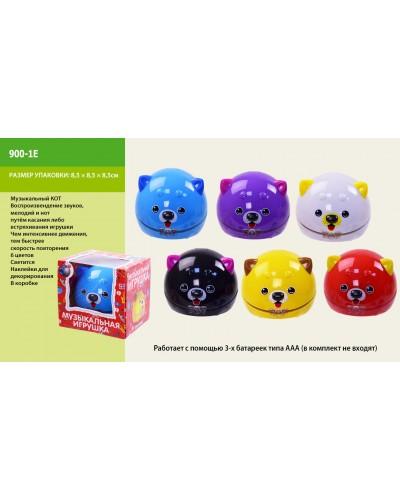 Муз. животные 900-1E 6 цветов, свет, звук в коробке 8.5*8.5*8.5 см