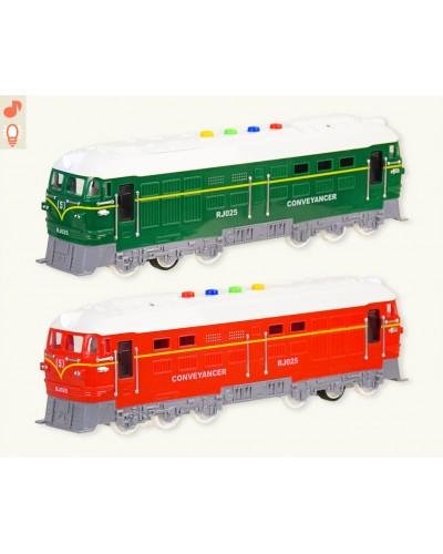 Поезд батар. RJ025 2 цвета, свет, звук, в кор. 40,5*11,5*15,5см