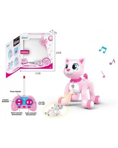 Животное на р/у 1040A/1036A кошка, 2 вида, USB, проектор, пульт управления, в кор.28*21*27см
